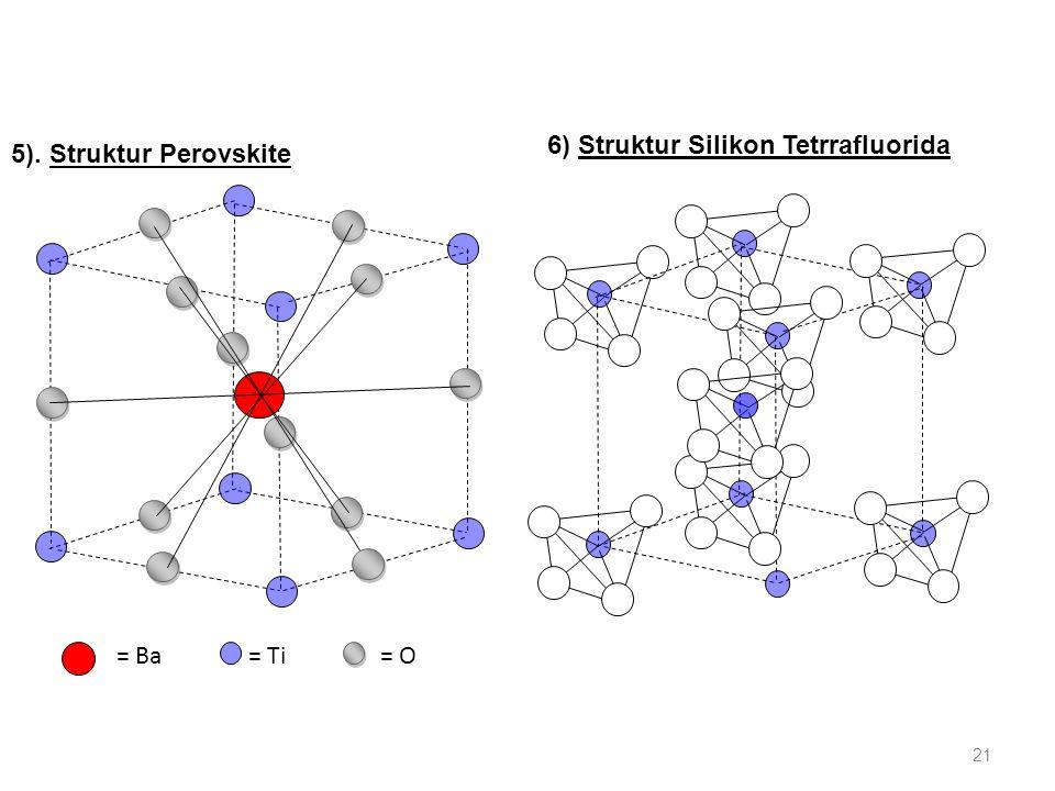 6) Struktur Silikon Tetrrafluorida