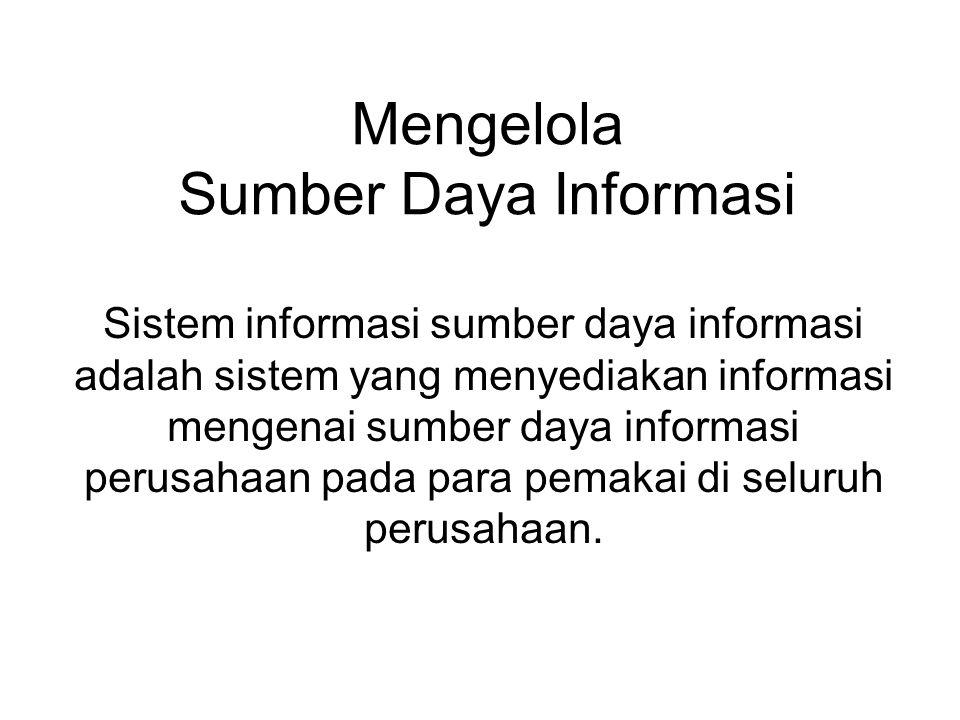 Mengelola Sumber Daya Informasi