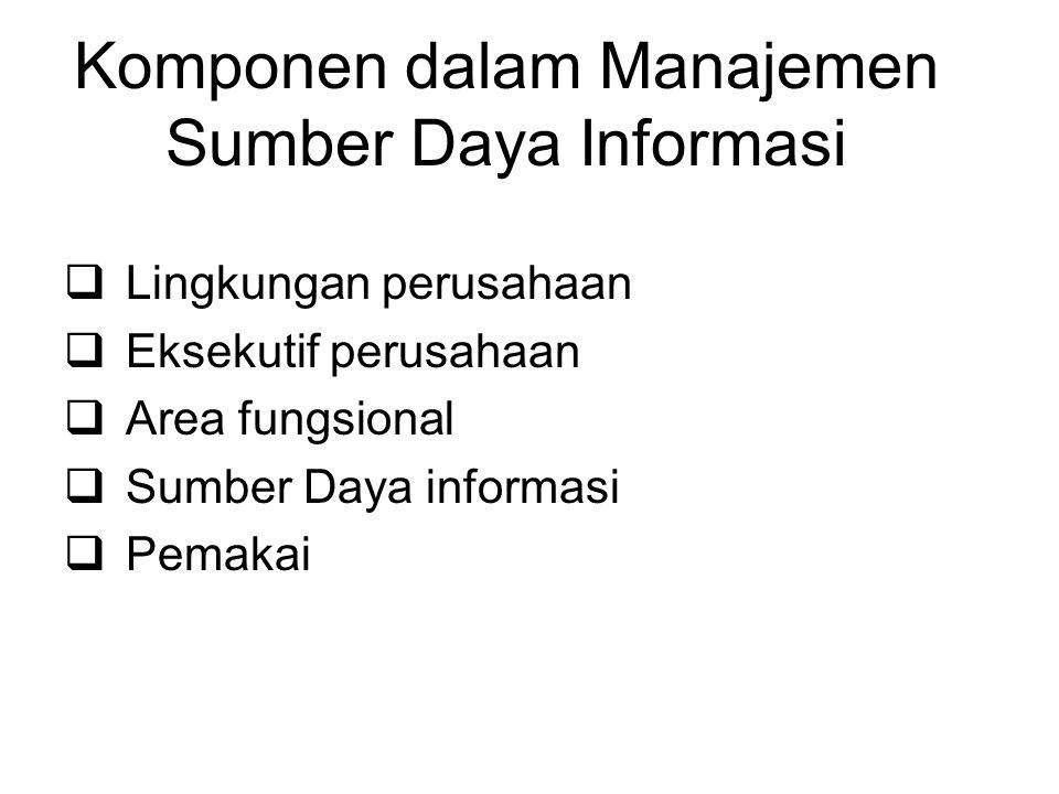Komponen dalam Manajemen Sumber Daya Informasi