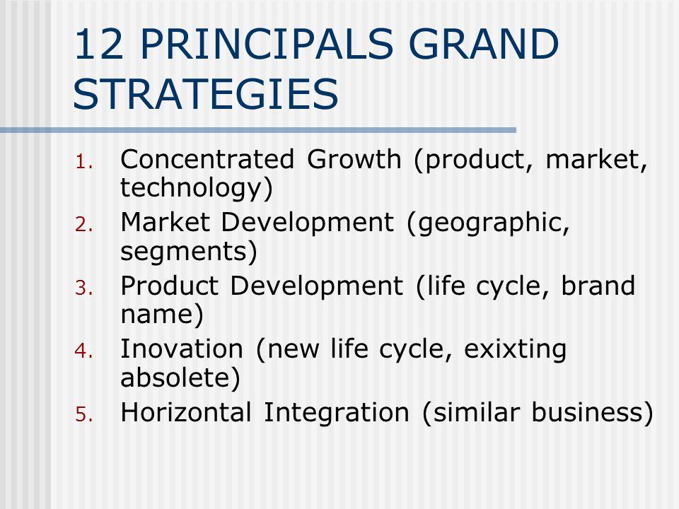 12 PRINCIPALS GRAND STRATEGIES