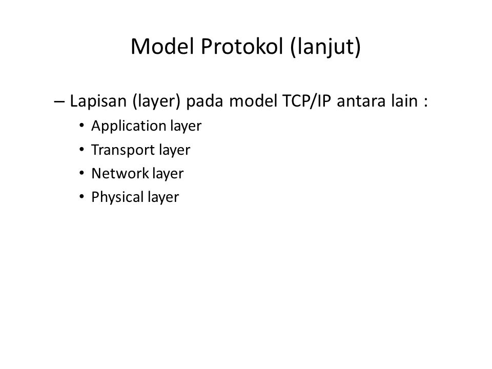Model Protokol (lanjut)