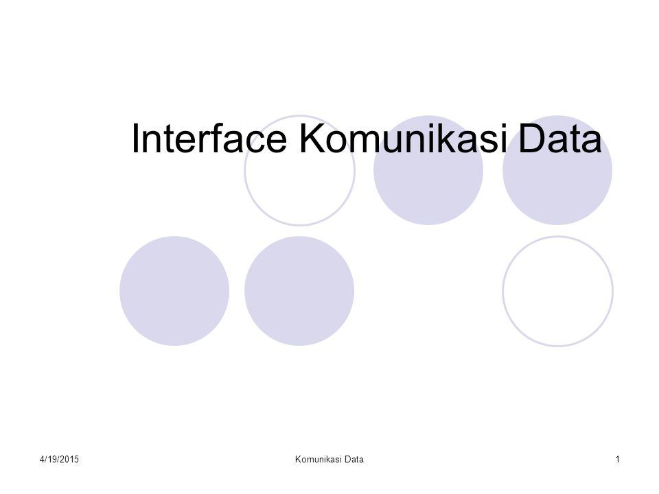 Interface Komunikasi Data