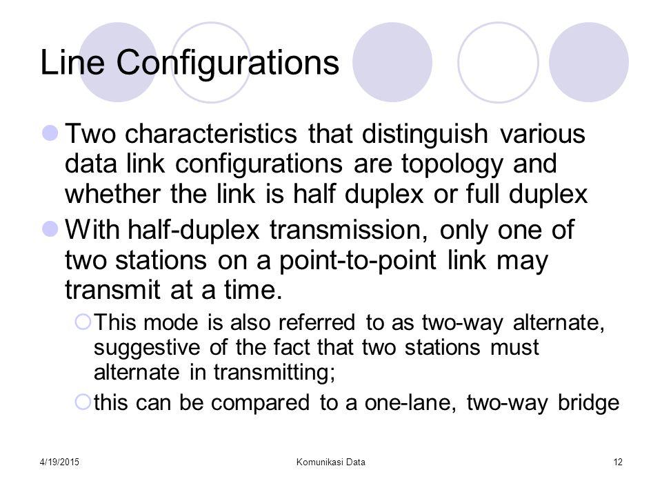 Line Configurations