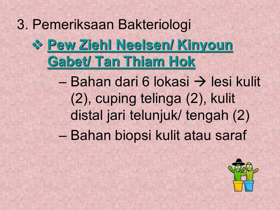 3. Pemeriksaan Bakteriologi