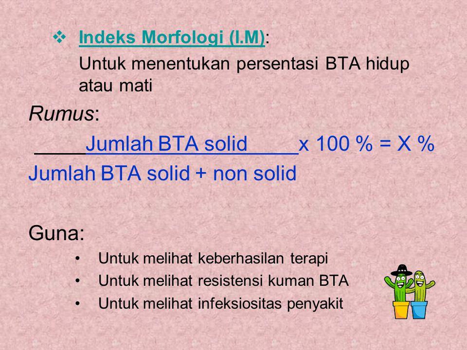 Jumlah BTA solid + non solid Guna: