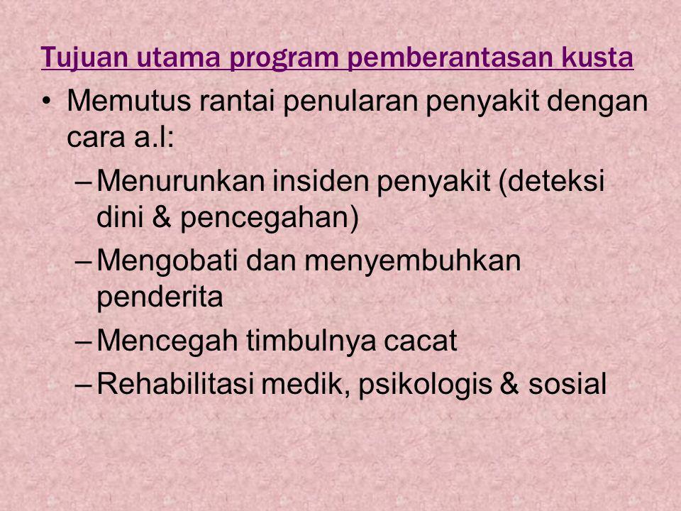 Tujuan utama program pemberantasan kusta