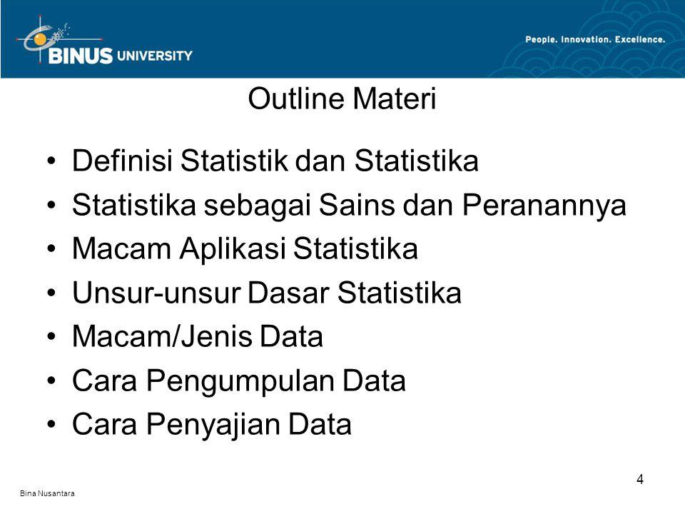 Definisi Statistik dan Statistika