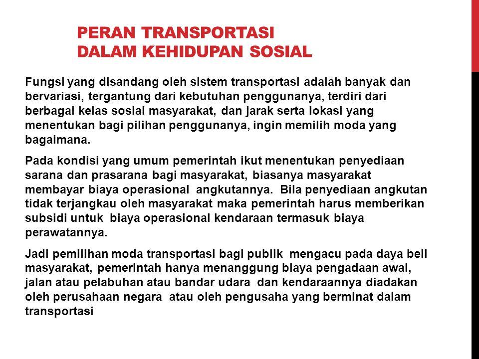 Peran transportasi dalam kehidupan sosial