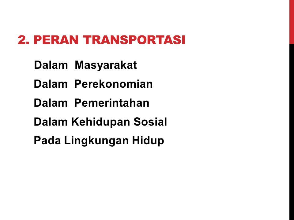 2. Peran Transportasi Dalam Perekonomian Dalam Pemerintahan