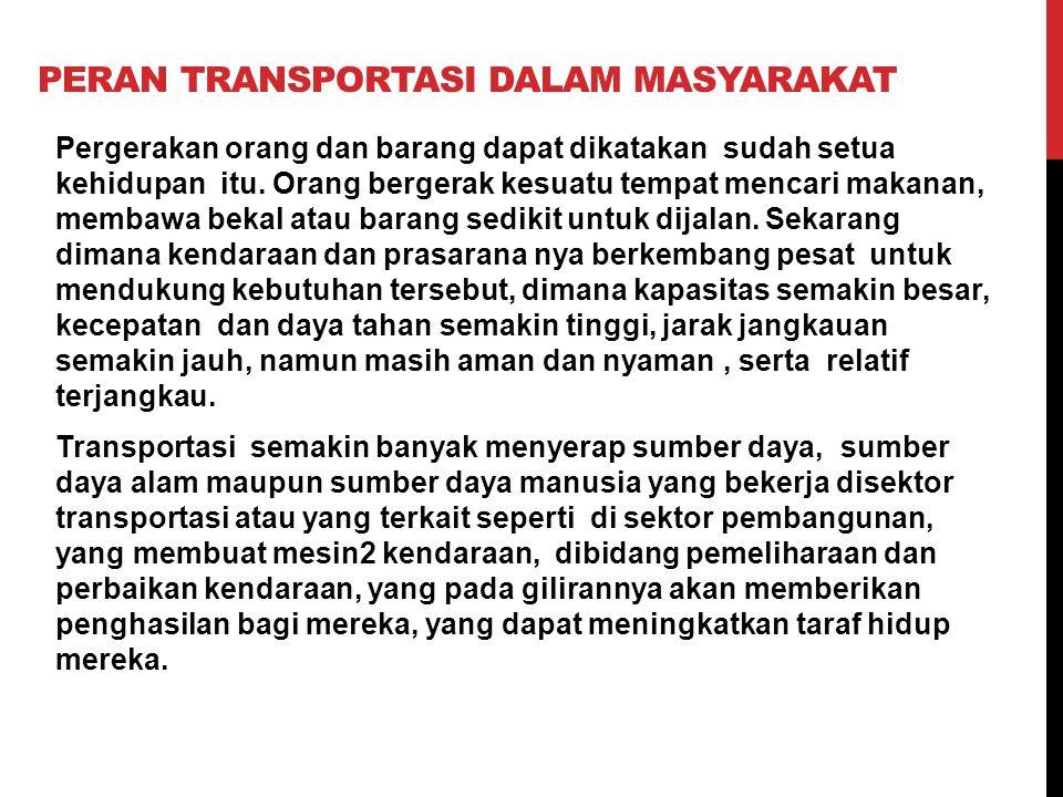 Peran transportasi dalam masyarakat