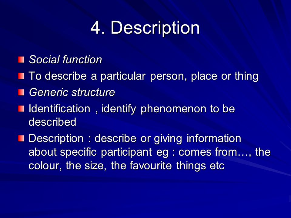 4. Description Social function