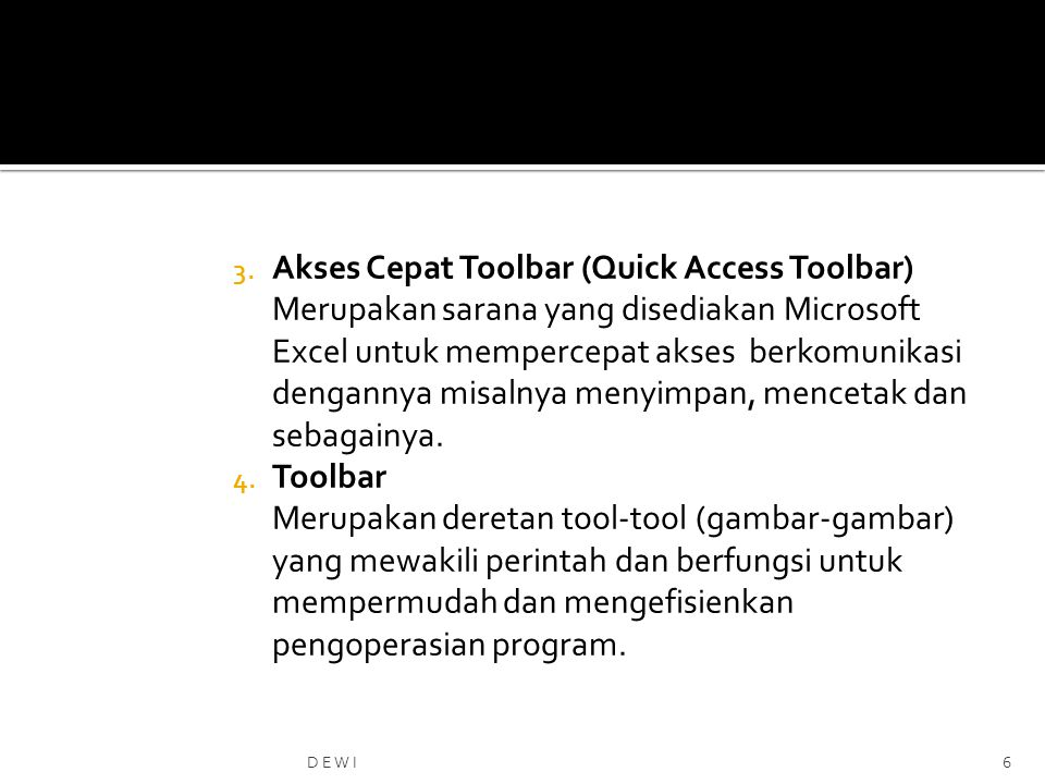 Akses Cepat Toolbar (Quick Access Toolbar)