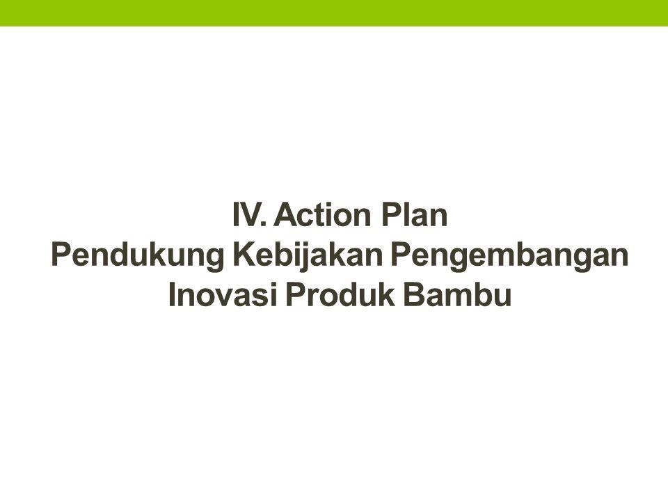 IV. Action Plan Pendukung Kebijakan Pengembangan Inovasi Produk Bambu
