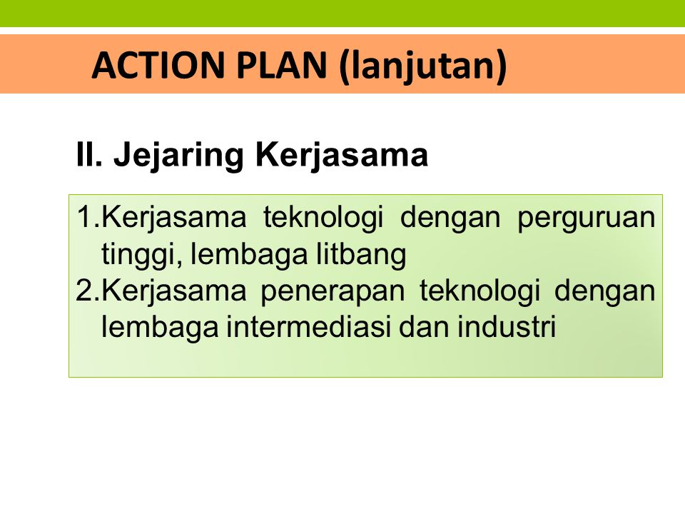 ACTION PLAN (lanjutan)