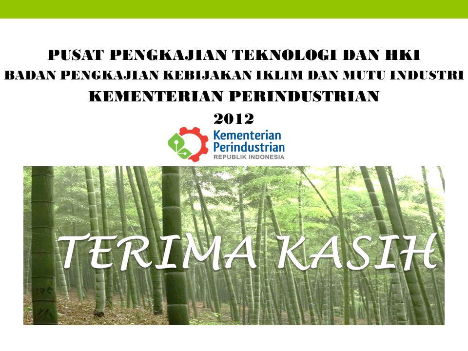 PUSAT PENGKAJIAN TEKNOLOGI DAN HKI KEMENTERIAN PERINDUSTRIAN 2012