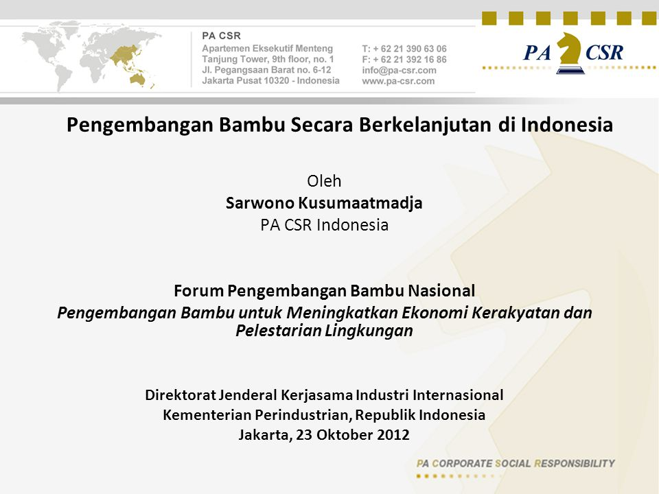 Pengembangan Bambu Secara Berkelanjutan di Indonesia