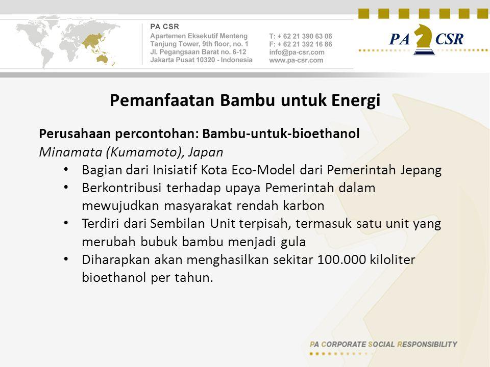 Pemanfaatan Bambu untuk Energi