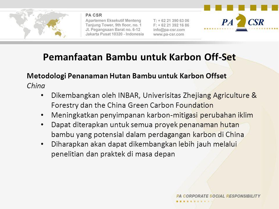 Pemanfaatan Bambu untuk Karbon Off-Set
