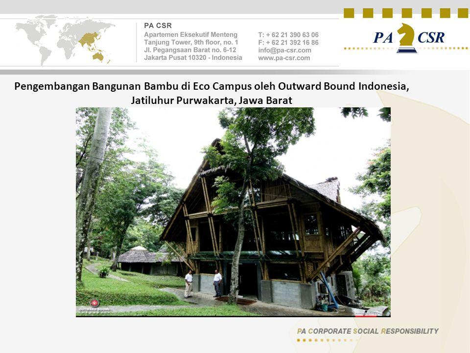 Pengembangan Bangunan Bambu di Eco Campus oleh Outward Bound Indonesia, Jatiluhur Purwakarta, Jawa Barat