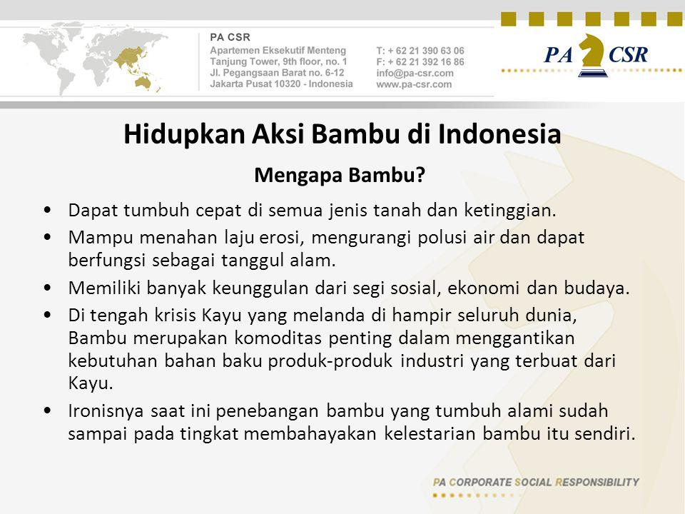 Hidupkan Aksi Bambu di Indonesia