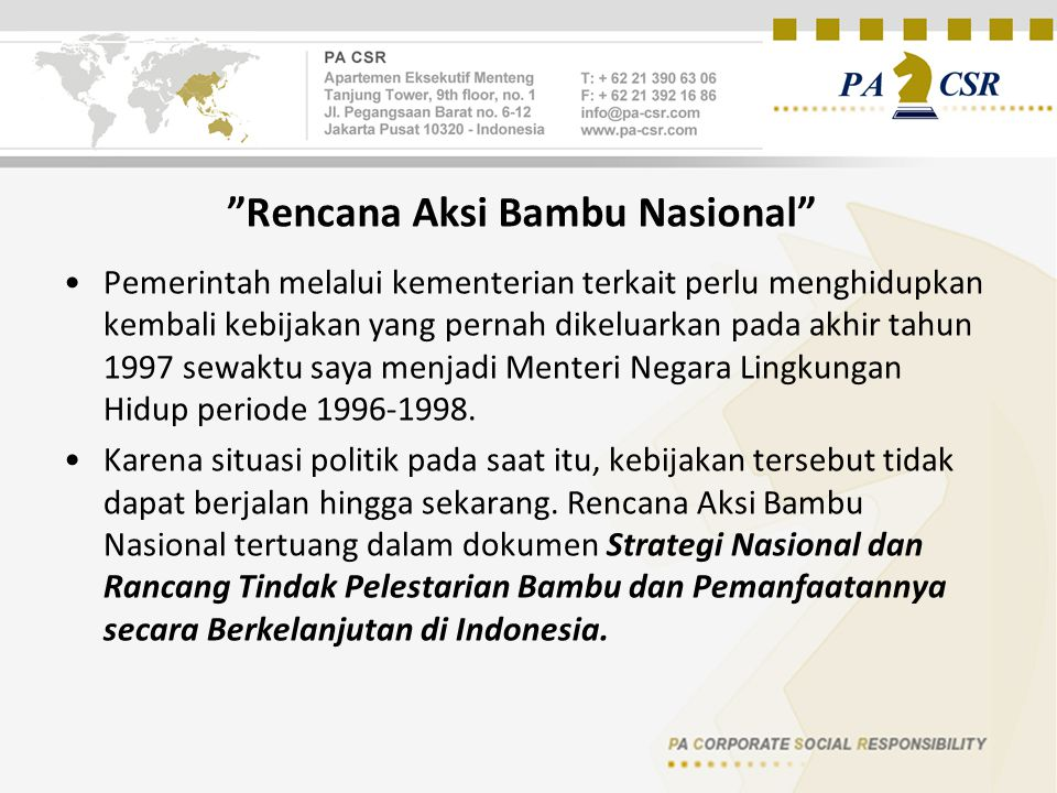 Rencana Aksi Bambu Nasional