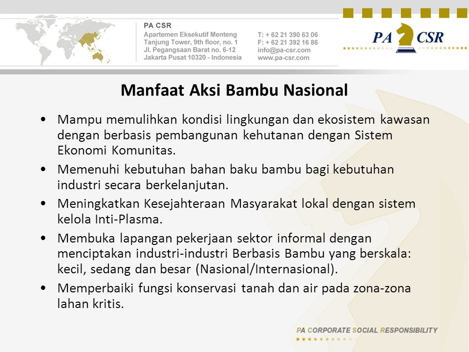 Manfaat Aksi Bambu Nasional