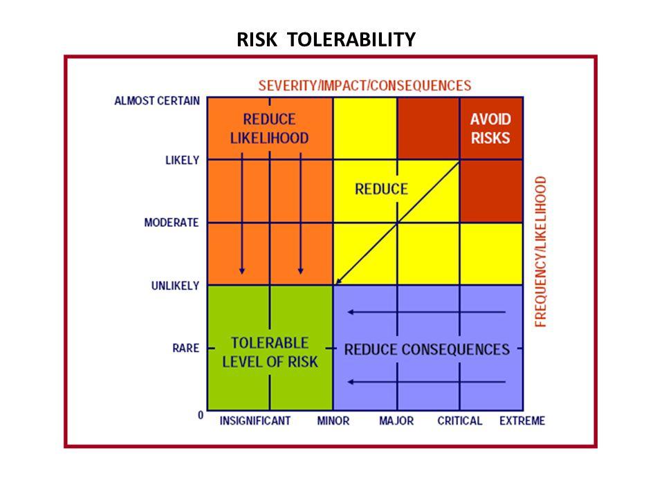 RISK TOLERABILITY