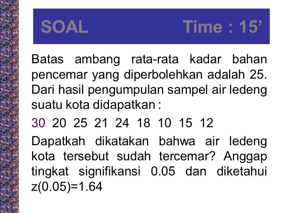 SOAL Time : 15'