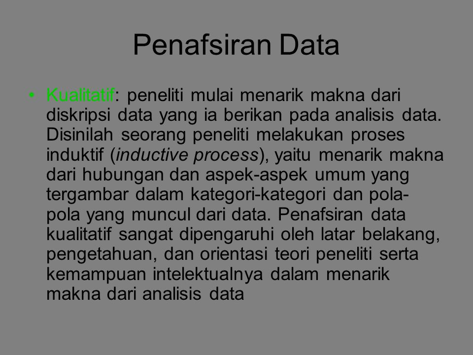 Penafsiran Data