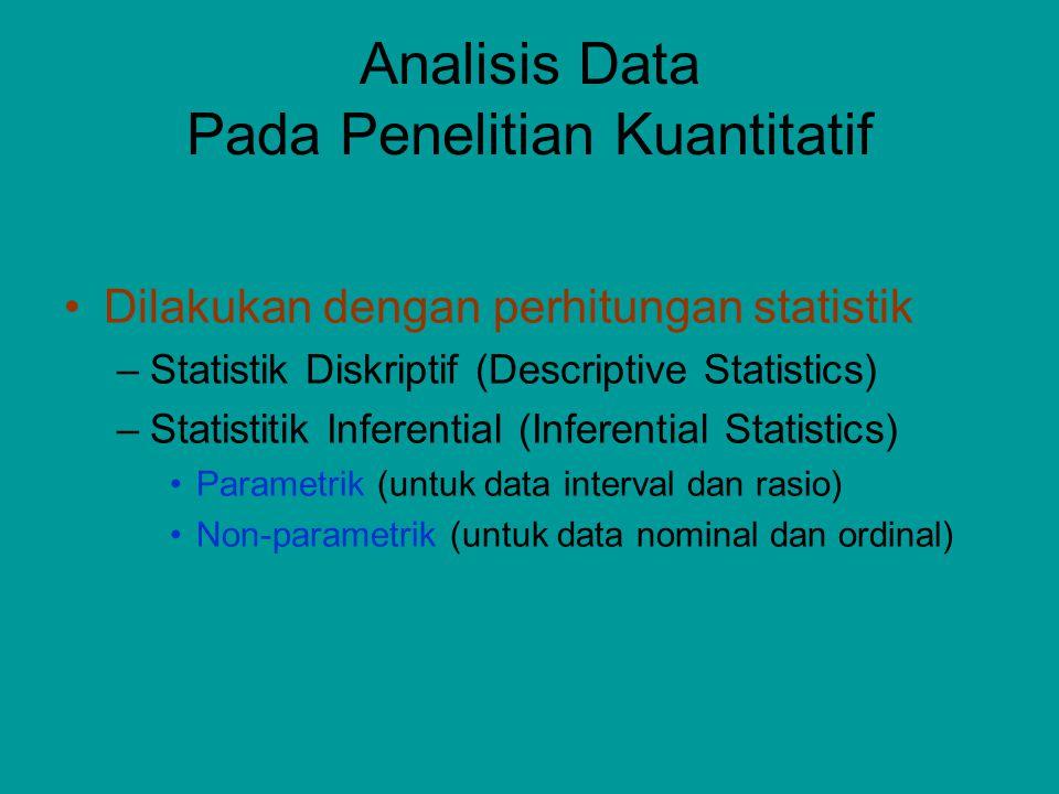 Analisis Data Pada Penelitian Kuantitatif
