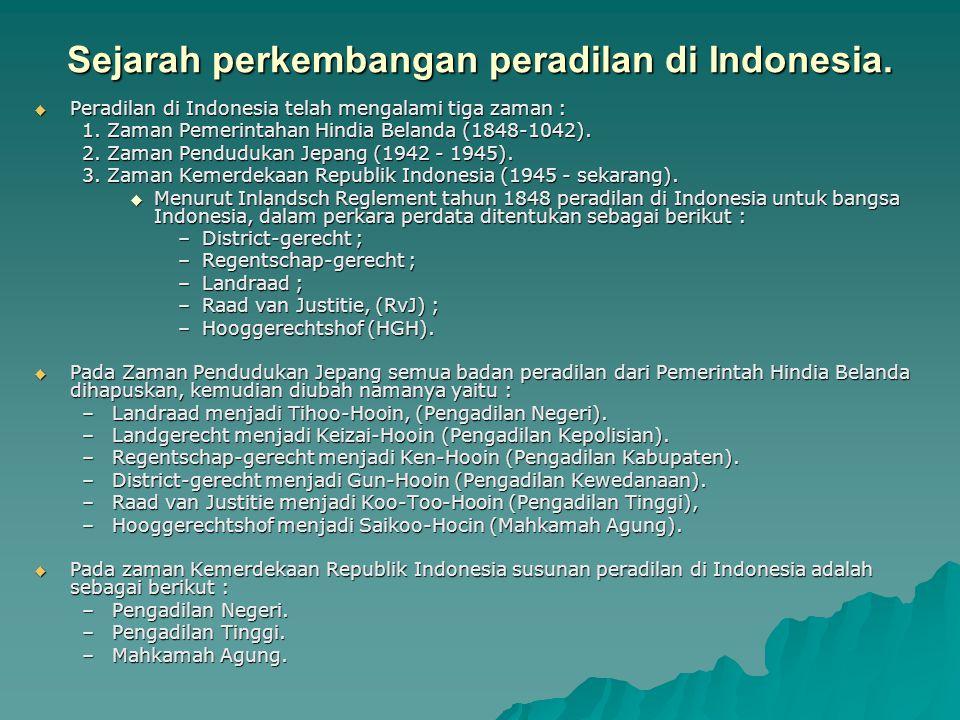 Sejarah perkembangan peradilan di Indonesia.