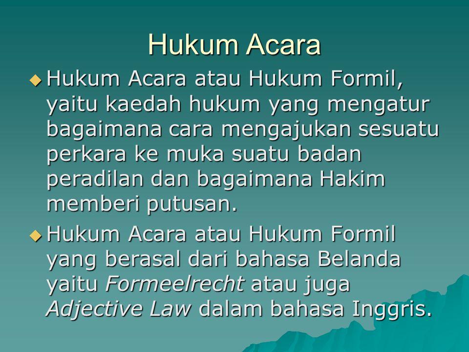 Hukum Acara