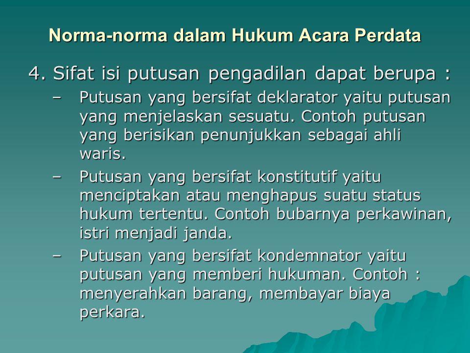 Norma-norma dalam Hukum Acara Perdata