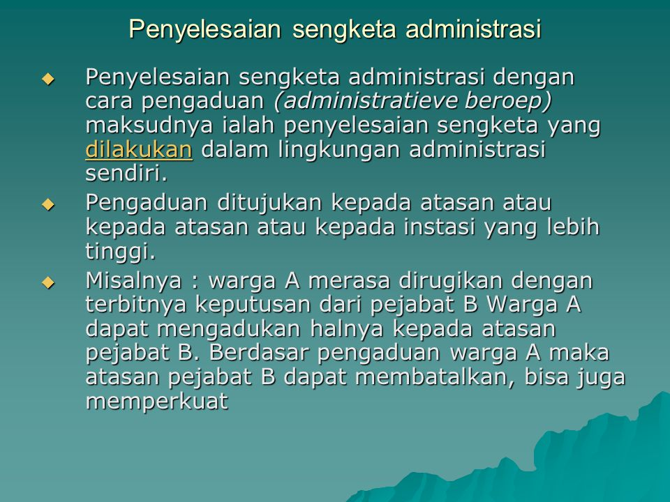 Penyelesaian sengketa administrasi