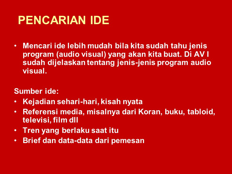 PENCARIAN IDE