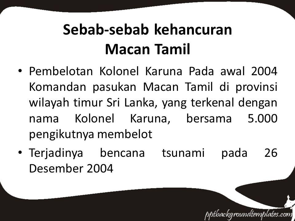 Sebab-sebab kehancuran Macan Tamil