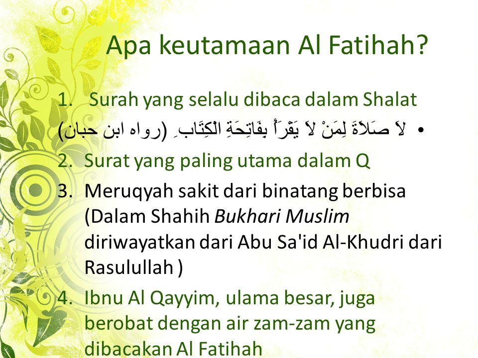 Apa keutamaan Al Fatihah