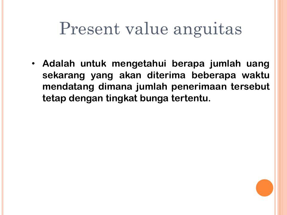Present value anguitas