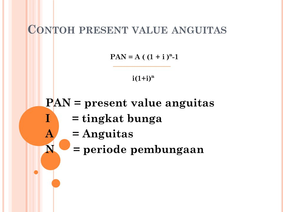 Contoh present value anguitas