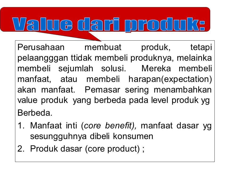 Value dari produk: