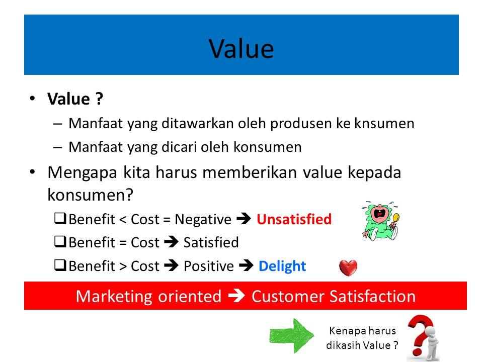 Value Value Mengapa kita harus memberikan value kepada konsumen
