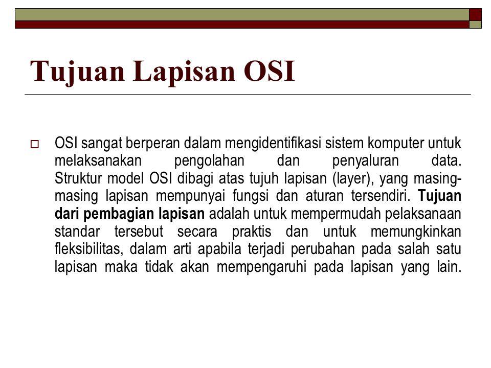 Tujuan Lapisan OSI