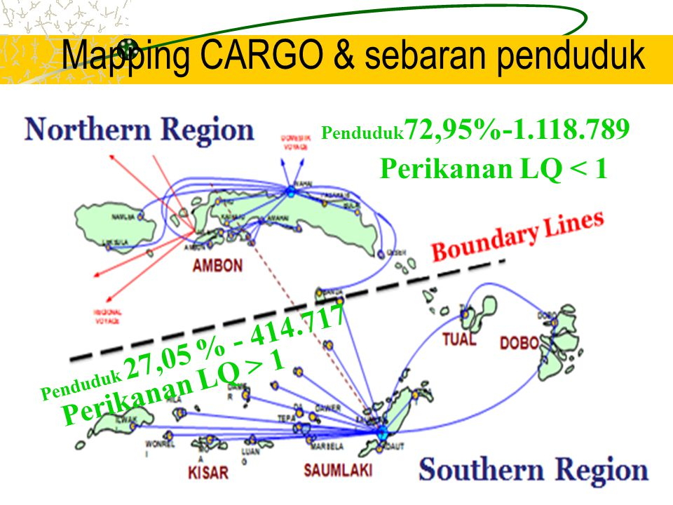 Mapping CARGO & sebaran penduduk