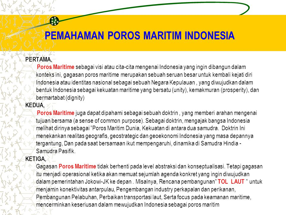 PEMAHAMAN POROS MARITIM INDONESIA