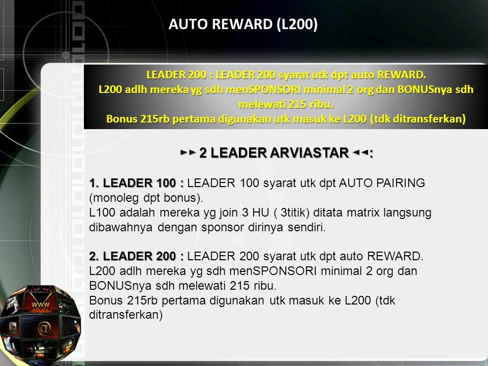 ►► 2 LEADER ARVIASTAR ◄◄: