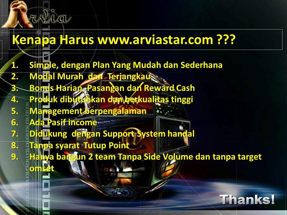 Kenapa Harus www.arviastar.com