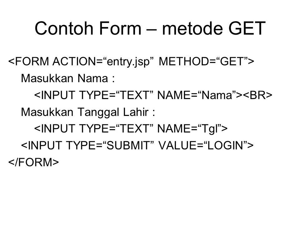 Contoh Form – metode GET