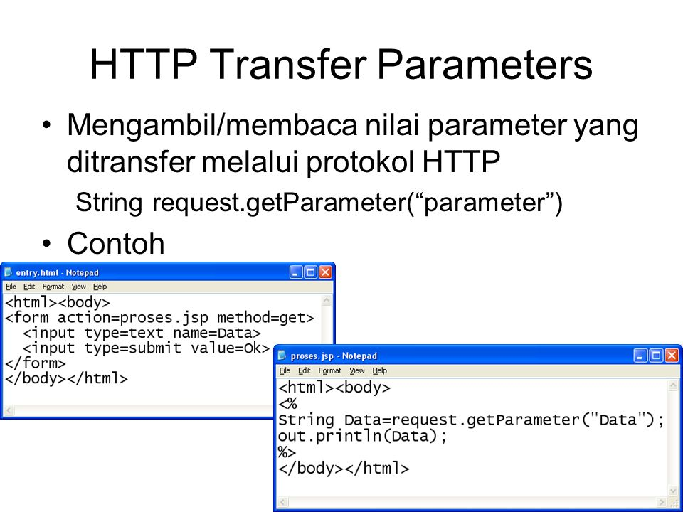 HTTP Transfer Parameters