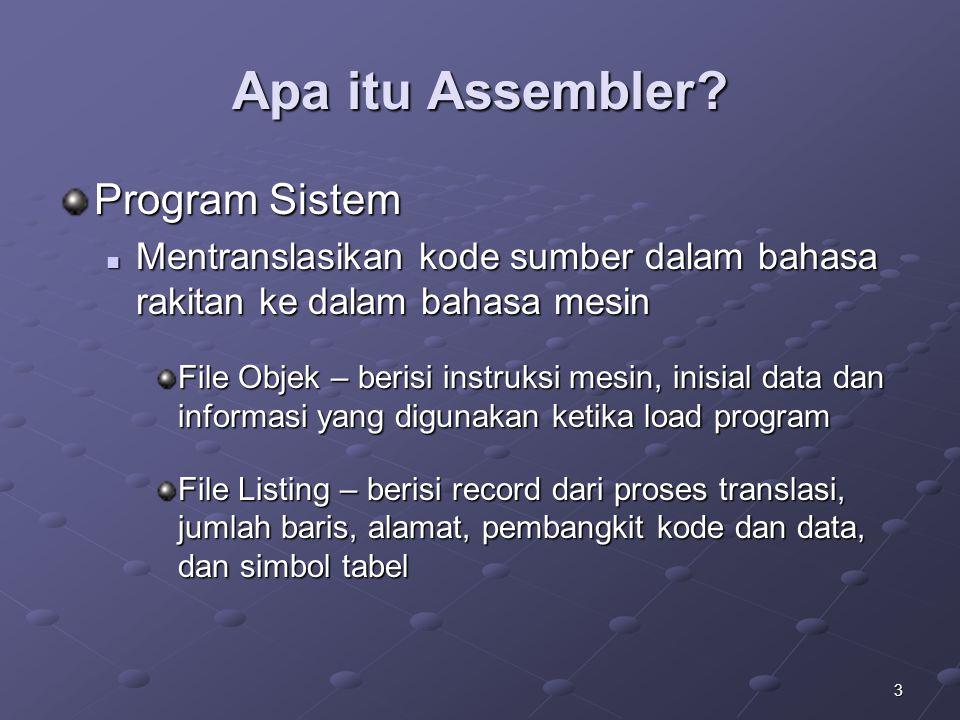 Apa itu Assembler Program Sistem