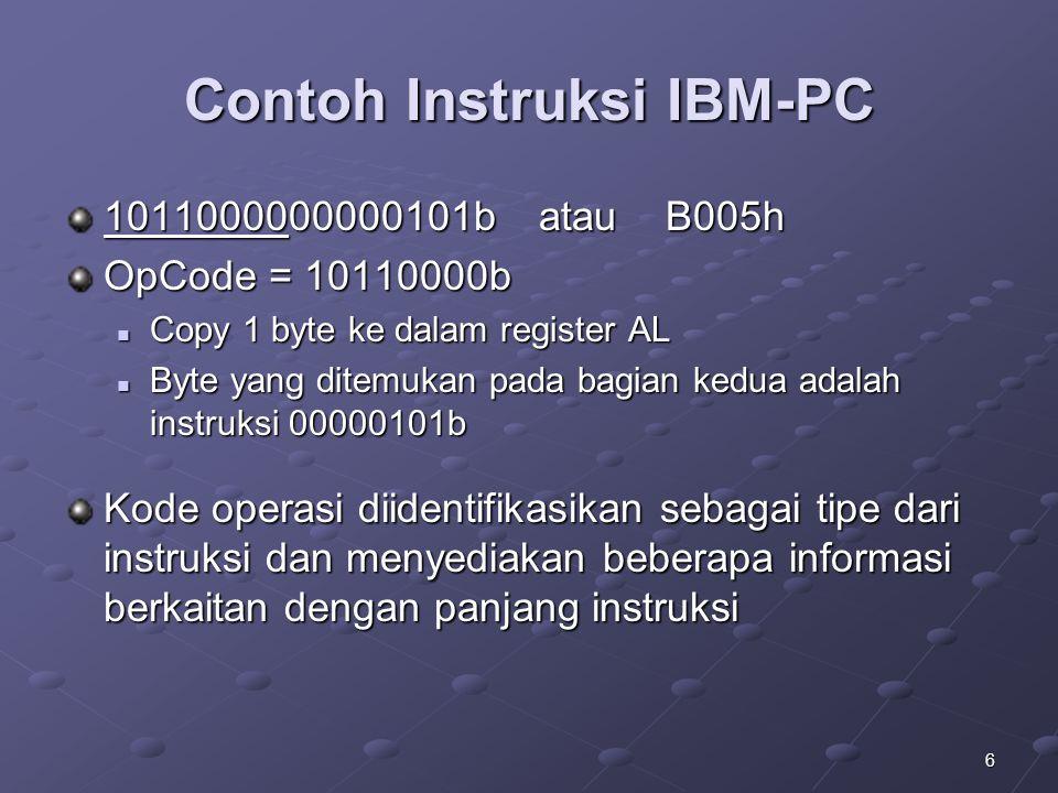 Contoh Instruksi IBM-PC